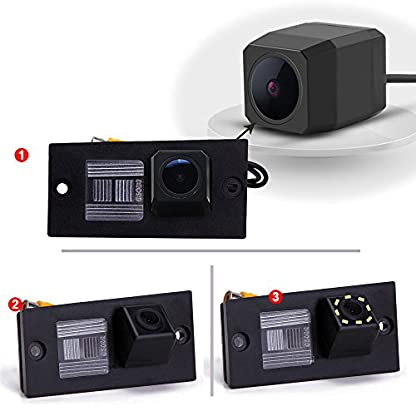 Dynavsal-Auto-HD-CCD-Rckfahrkamera-170-Weitwinkel-mit-Radar-Sensor-Einparkhilfe-Universal-NTSC-Rckfahrcamera-Vehicle-Specific-Camera-Integrated-in-Number-Plate-Light-Schwarz-fr-H1-Grand-Starex-iload-S