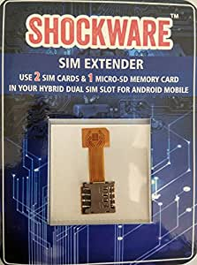 Shockware Hybrid SIM Slot Adapter, Avails You To Run 2 SIM And Micro SD Card, All At A Time (Nano to Micro Sim Slot)