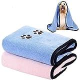 Legendog Huisdier Handdoeken, Dog towel 2 Stks Huisdier Microvezel Handdoek Snel Drogen Absorberende Handdoek voor Kat en Hon
