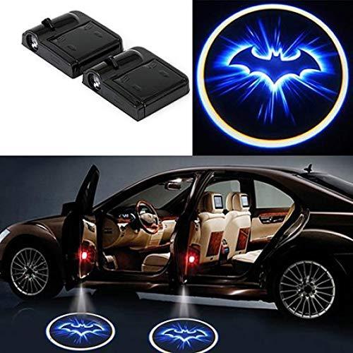 Rabusion Porta per Auto Wireless a LED Benvenuto proiettore Laser Logo Shadow Light Batman Car-Styling Car Interior Lamp