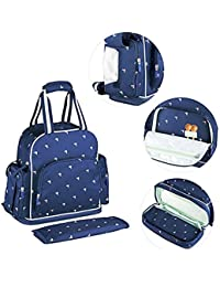 Voova Diaper Bag Multi-Function Waterproof Travel Backpack Nappy Bags Baby Shoulder Bag With Changing Pad For...