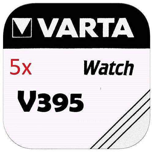 Varta Pile pour montre 1.55V-42mAh SR57 395.801.111 - lot de 5 pieces