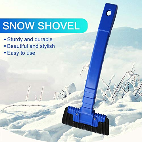 MASTERTOP 3 in 1 pala da neve portatile con spazzola da neve e raschietto per ghiaccio guanti extra touch screen raschietto per ghiaccio auto con manico estensibile per auto