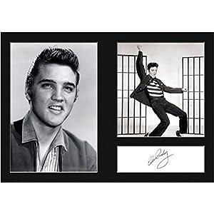FRAME SMART Elvis Presley | Mounted Photo Signed Re Drucken | A4 Größe passend für A4 Rahmen | Maschinenschnitt | Fotoanzeige | Geschenk Sammlerstück