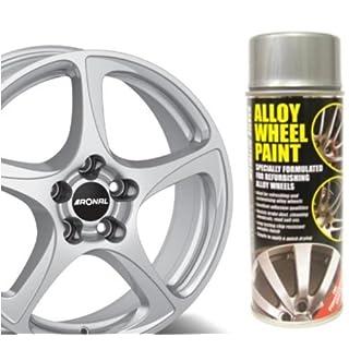 Auto Inpart Lack für Leichtmetallfelgen/Alufelgen, Metallic-Silber, splitterfest