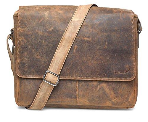 f30df6b817aee Packenger Vethor Umhängetasche Messenger Bag bis 15 Zoll aus Leder Bolso  Bandolera