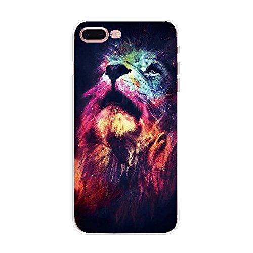 Coque Iphone 5 et 5S en Gel silicone souple , lion , couleur lion