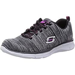 Skechers Equalizer First Rate, Scarpe sportive indoor donna Nero Noir (Bkw) 36