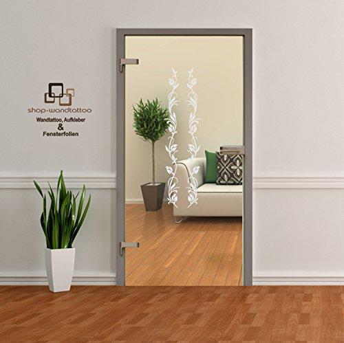 Glastür Aufkleber Tattoo Folie Glasdekor Fensterfolie Sichtschutz Wohnzimmer, Bad, Küche oder für alle Glasflächen Sichtschutzfolie für Türen GDT006 Größenwahl (ca. 120cm x 38cm)