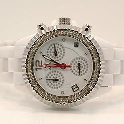Aqua Master Ladies Ceramic Diamond Watch 1.25ctw W1151