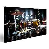 islandburner Bild Bilder auf Leinwand Trommel auf der Bühne Schlagzeug Wandbild Leinwandbild Poster DSU