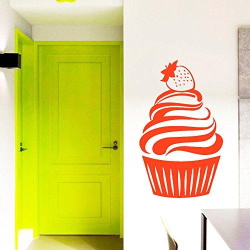 43SabrinaGill Wandaufkleber Cupcake Aufkleber Vinyl Aufkleber Cafe Küche Home Art Decor Schlafzimmer Innen Fenster Aufkleber Wohnzimmer Art Wandmalereien
