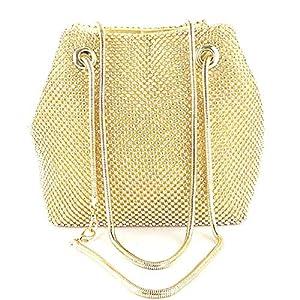 Selighting Damen Abendtasche Clutch Strass Umhängetasche Handtasche für Party Hochzeit