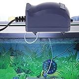 GUBENM Sauerstoff Luft Pumpe, Effiziente Aquarium Luft Pumpe Silent Oxygen Fisch Tank Bubble Single Outlet EU Stecker