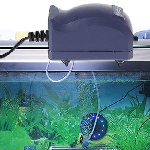 GUBENM Sauerstoff Luft Pumpe, Effiziente Aquarium Luft Pumpe Silent Oxygen Fisch Tank Bubble Single Outlet EU Stecker (Aquarium Bubble)