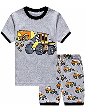 Showu Niños Manga Corta de Dibujos Animados Camiseta y Pantalones Cortos Conjunto