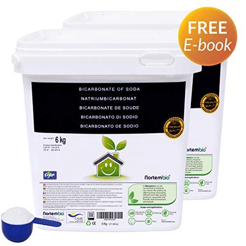 Natron NortemBio 2x6 Kg. Premium Natriumhydrogencarbonat in Pharmazeutischer Qualität. Ökologischer Input aus natürlichem Ursprung. Natriumbicarbonat. Aluminiumfrei. CE - Produkt