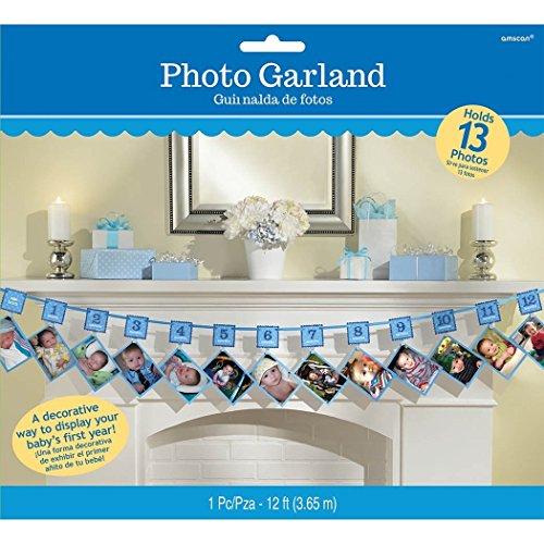 Baby 1. Jahr Girlande Junge 1. Monat ... 2 .... 3.... 4.... 10... 12... Monate für Fotos zur Selbstanbringung