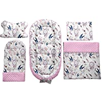 MAMOI 5in1 baby nest pod newborn, portable baby bed, includes baby mat, baby pillow for flat head, baby sleeping pod, poddle pod 0-6 month, baby travel cot, baby pod