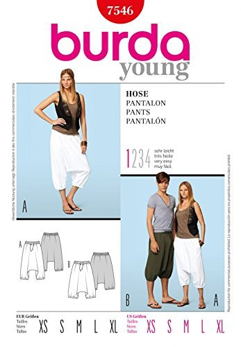 Burda B7546 Patron de Couture Pantalon 19 x 13 cm