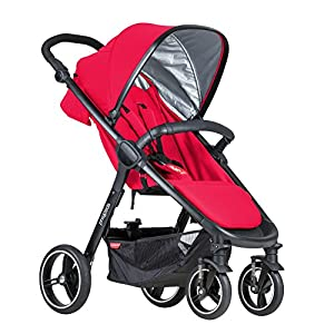 Phil&teds Smart Buggy Pushchair, Cherry   10