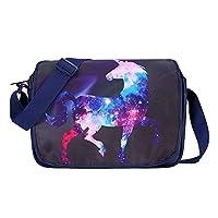 "PADIEOE Unicorn Cute Cartoon Messenger Bag Backpack Girls Boys Shoulder Bags for School Cosplay School for 14"" Laptop"