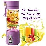 TQWMU Mini Personal Charge Pattern Juicer Smoothie Blender Fruit Vegetable Juicer Blender Smoothie Shake N Take(Colour May Vary)