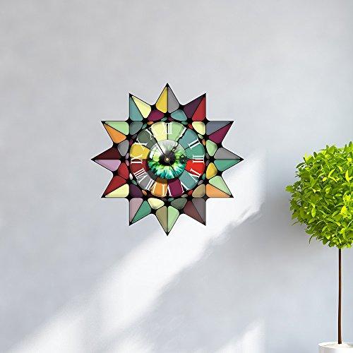 Wanduhr 3D- Personalisierte kreative DIY europäischen Fenstergitter 3D Uhr Wandaufkleber Silent Umweltschutz