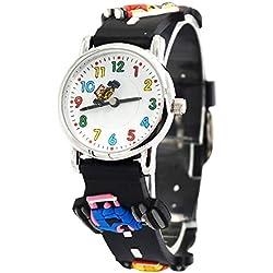 Willis - Reloj de Niños Analógico de Cuarzo Cartoon 3D Cute Reloj de Pulsera Infantil Correa de Goma para Estudiantes - Color 7