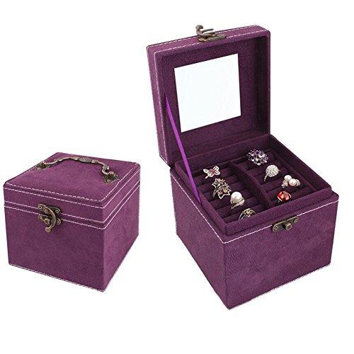 Homgaty-Joyero-para-pendientes-3-bandejas-de-almacenamiento-para-pulseras-y-collares-color-morado