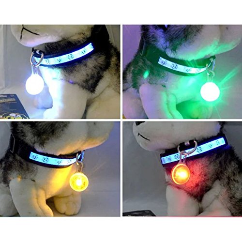 Sicherheitsanhänger/Anhänger für Hundehalsband/Katzenhalsband mit blinkender LED-Leuchte - 3