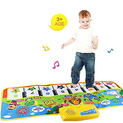 vneirw Musikalische Matte Piano Tastatur, Musikalische Matte Teppich, frühe Bildung Musik Puzzle Baby Kinder Spielzeug, bunt