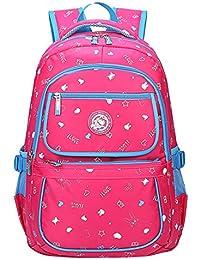 EOZY Cartable à Dos Enfant Primaire Sac à Dos Scolaire Bambin Sac d'Ecole Pois Kids Backpack