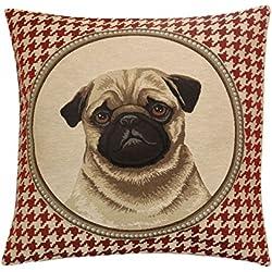 Funda de almohada, perro Pug,