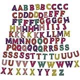 100 baldosas de Scrabble del alfabeto de madera Letras y números mayúsculos coloridos para los artes