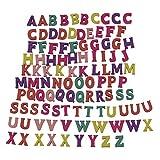 Log-Cabin 100 Alfabeto in legno Piastrelle a scrabble Lettere maiuscole colorate e numeri per Artigianato artistico Decorazione fai da te Visualizza parole inglesi (capital letters)