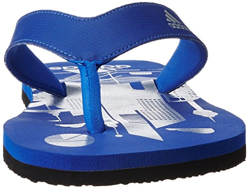 Adidas Men's Beach Print Max Out Men Croyal and Silvmt Flip-Flops and House Slippers - 8 UK/India (42 EU)