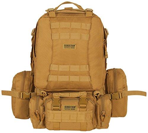 seibertron Rucksack Backpack wasserdicht Tourenrucksack Wasserdichter Trekking-Rucksack aus 900D, 50 Liter (khaki)