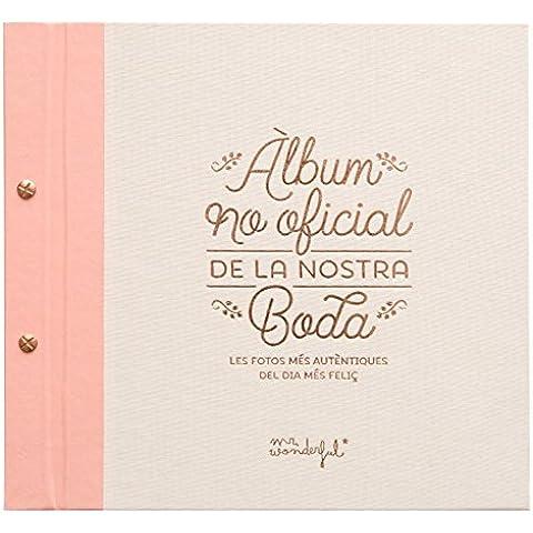 Mr. Wonderful WOA03333 - Álbum no oficial de nuestra boda con contenido en catalán