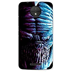 Motorola C / Moto C Premium Stylish Printed Designer Hard Back Cover Case | Game Dragon | comics & Cartoons | Danger | Scary | Scratch Proof | Lifetime Printing Guarantee | HD Printing Quality | Waterproof | Durable | Slim Light Weight | Matte Polycarbonate Plastic Case Cover | 3 Side Edge to Edge Printing - Crazyink