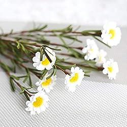 Dpolrs Oficina Floral de la Margarita de Espuma PE Flor de la Margarita del Ramo de la Flor Artificial del Home Hotel