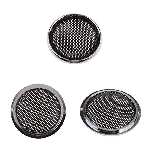 sourcingmap/® Noir M/étal 10 pouce Caisson Grille Coverture Protecteur pour Auto Voiture