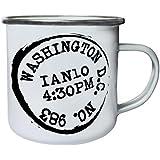 Nuevo Washington D.C. Enviar Retro, lata, taza del esmalte 10oz/280ml m228e