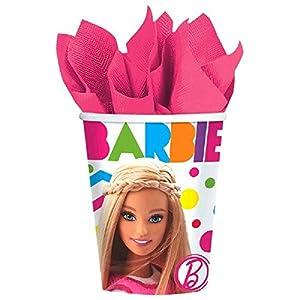 Amscan 266ml vasos de papel Barbie Sparkle, 1 Pack x 8 unidades