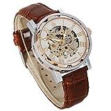 Reloj mecánico de pulsera Steampunk para hombres, de GuTe con correa de cuero,...