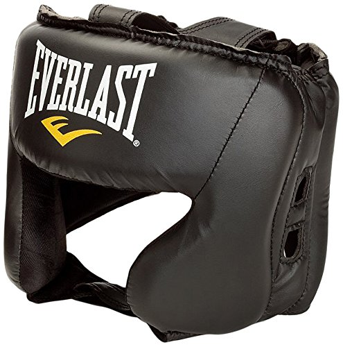 Everlast Everfresh-Casco Protector para Boxeo, Color Negro, Talla única