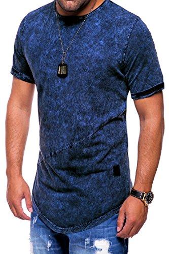 MT Styles Oversize T-Shirt Washed C-9023 Dunkelblau