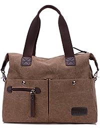 Nlyefa Damen Canvas täglich Handtasche Umhängetasche für Reise Shopping