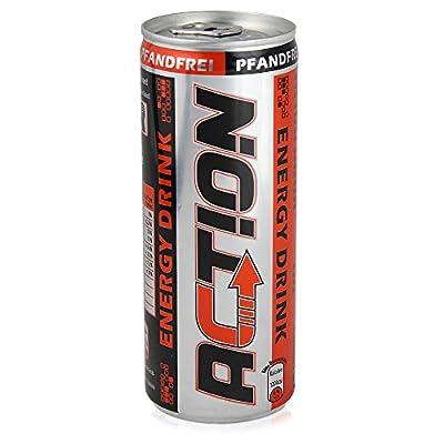 96 Dosen Action Energy Drink a 250 ml pfandfrei