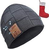 YogerYou Bonnet Connecté Bluetooth Homme Femme,Bonnet Ecouteur Bluetooth,Bonnet Musique Bluetooth,Bas de Noël Chaussettes Père Noël Cadeau pour Homme Original Sac Christmas Stocking Decoration